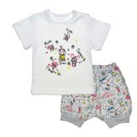 Комплект детский (футболка, шорты) арт. 017/632и серый