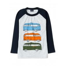 Лонгслив для мальчика арт. BZ147 Three buses
