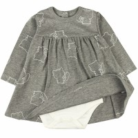 Боди-платье детский арт. 1039/14и темно-серый