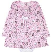 Боди-платье для девочки арт. 10462010 розовый