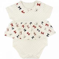 Боди-платье для девочки арт. 1200200102 красные бантики