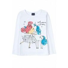 Лонгслив для девочки арт. BZ142 Ballerina white