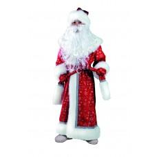 """Карнавальный костюм """"Дед Мороз"""" детский плюш арт. 178 красный"""