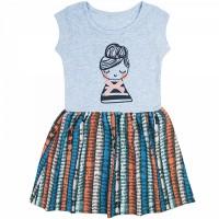 Платье арт. 395к/м ап голубой