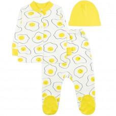 Комплект детский (кофточка, ползунки и шапочка) арт. 6001204601