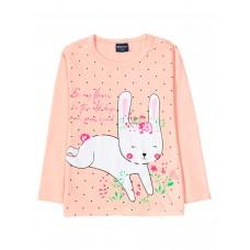 Лонгслив для девочки арт. BZ142 Bunny coral