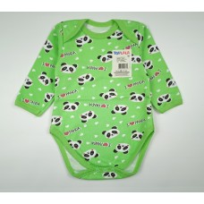 Боди детское с микроначесом арт. 055ф зеленый
