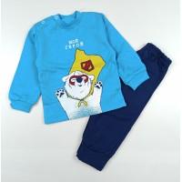 Комплект детский с микроначесом арт. КМ-1408 голубой