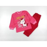 Комплект детский с микроначесом арт. КМ-1408 розовый