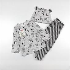 Комплект детский (кофточка, ползунки и шапочка) арт. 6001203801