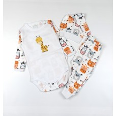 Комплект детский (боди, штанишки, шапочка) арт. 41-117 жираф