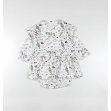 Боди-платье арт. 36-119 единороги