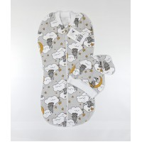 Пеленка-кокон с шапочкой арт. 30-120 луна