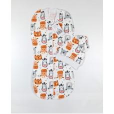 Пеленка-кокон с шапочкой арт. 30-120 животные