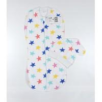 Пеленка-кокон с шапочкой арт. 30-120 звезды