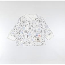 Кофточка детская арт. 001к динозавры голубой