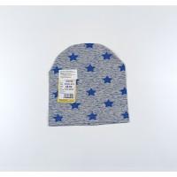 Шапка детская арт. ШП21-013 синие звезды