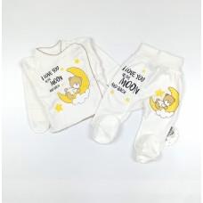 Комплект детский (распашонка, ползунки) арт. КЛ.110.005.0.205.005 белый