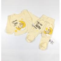 Комплект детский (распашонка, ползунки) арт. КЛ.110.005.0.205.005 желтый