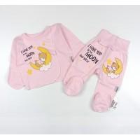 Комплект детский (распашонка, ползунки) арт. КЛ.110.005.0.205.005 розовый