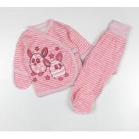 Комплект детский (распашонка, ползунки) арт. КЛ.330.024.0.135.006 розовый
