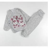 Комплект детский (распашонка, ползунки) арт. КЛ.330.024.0.135.006 серый