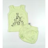 Комплект детский (майка, трусы на памперс) арт. КЛ.334.005.0.155.011 салатовый
