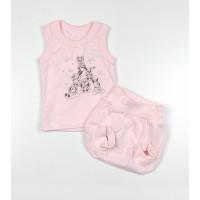 Комплект детский (майка, трусы на памперс) арт. КЛ.334.005.0.155.011 розовый
