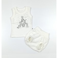 Комплект детский (майка, трусы на памперс) арт. КЛ.334.005.0.155.011 белый