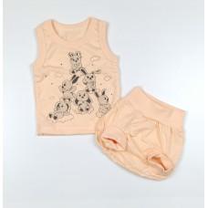 Комплект детский (майка, трусы на памперс) арт. КЛ.334.005.0.155.011 персиковый