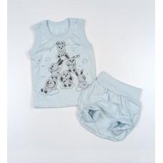 Комплект детский (майка, трусы на памперс) арт. КЛ.334.005.0.155.011 голубой