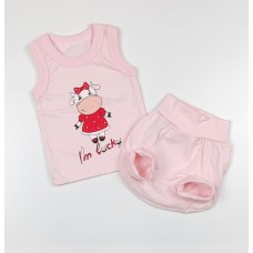 Комплект детский (майка, трусы на памперс) арт. КЛ.334.005.0.250.011 розовый