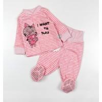 Комплект детский (кофточка, ползунки) арт. КЛ.330.011.0.126.006 розовый