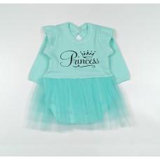 Боди-платье арт. 37-117 ментоловый Princess