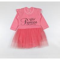 Боди-платье арт. 37-117 розовый Princess