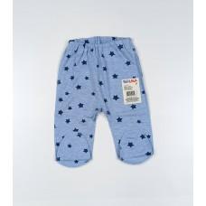 Ползунки детские арт. 00092001 голубой с синими звездами