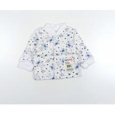 Кофточка детская с микроначесом арт. 001ф бегемоты голубой