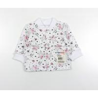 Кофточка детская с микроначесом арт. 001ф бегемоты розовый