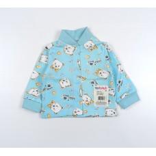 Кофточка детская с микроначесом арт. 001ф голубой мишки