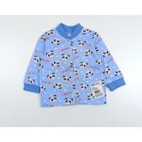 Кофточка детская с микроначесом арт. 001ф панды голубой