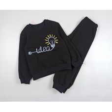 Костюм детский (джемпер, брюки) арт. Т-20213 черный
