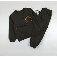 Костюм детский (джемпер, брюки) арт. Т-20213 хаки