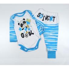Комплект детский (боди, штанишки) арт. PAN0004 голубой