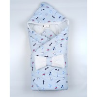 Конверт на выписку для новорожденных арт. Б7971А голубой