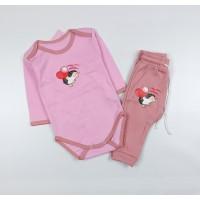 Комплект детский (боди, штанишки) арт. Т-20193Ф розовый-2