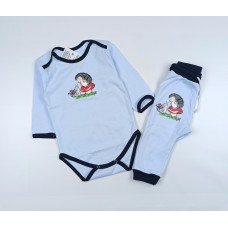 Комплект детский (боди, штанишки) арт. Т-20193Ф голубой