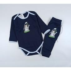 Комплект детский (боди, штанишки) арт. Т-20193Ф темно-синий-2