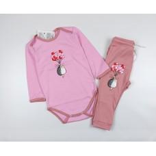 Комплект детский (боди, штанишки) арт. Т-20193Ф розовый-1