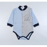 Боди детское арт. Т-04106/1 серый-2