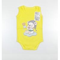 Боди-майка детское арт. МК-1-Л желтый мишка